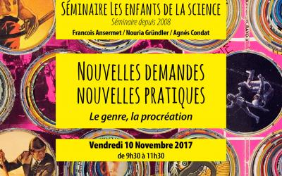 Séminaire les Enfants de la Science, Nov 2017