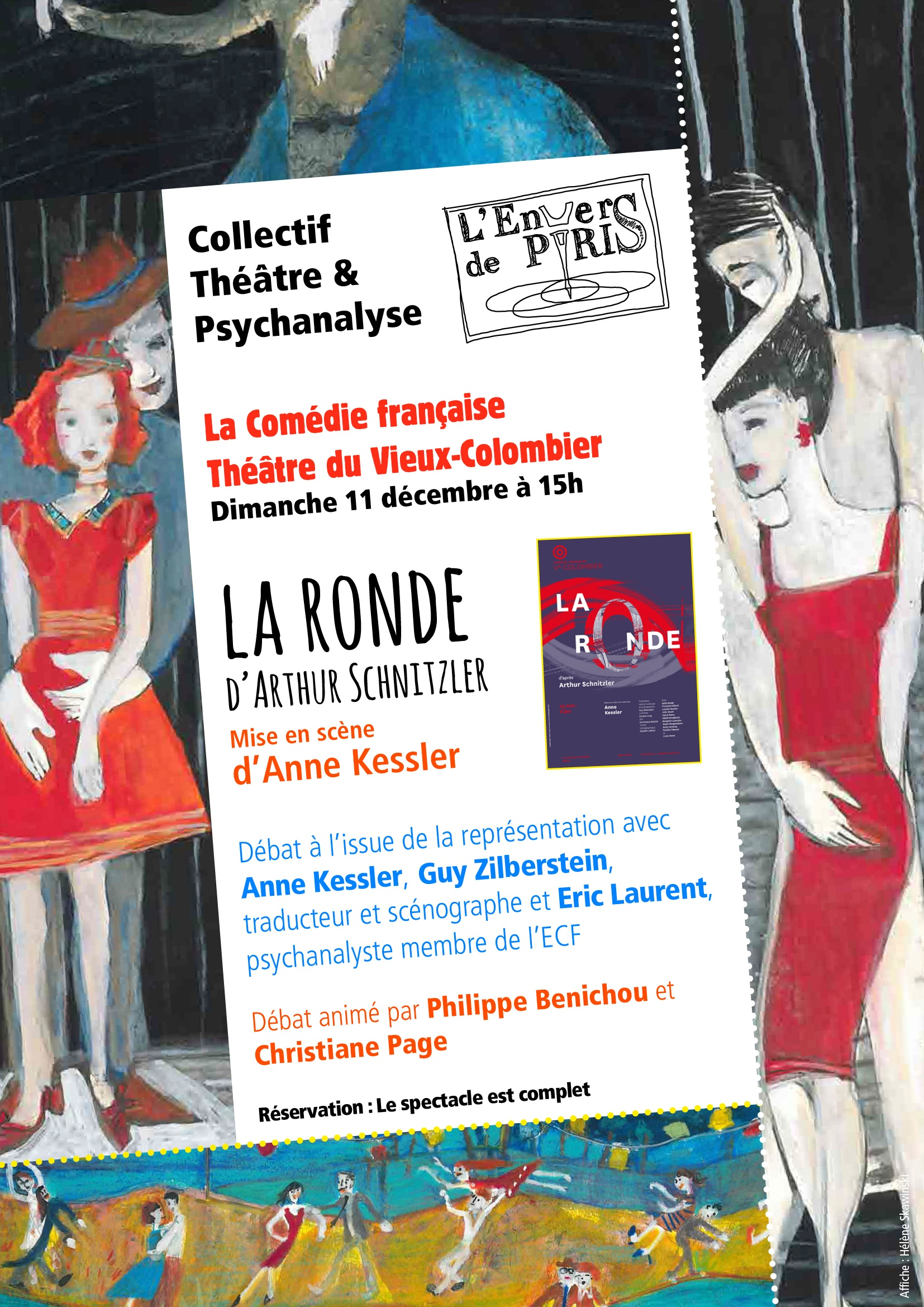 Les liaisons dangereuses, adaptation et mise en scène de Christine Letailleur, d'après l'œuvre de Choderlos de Laclos, au Théâtre de la Ville, Paris